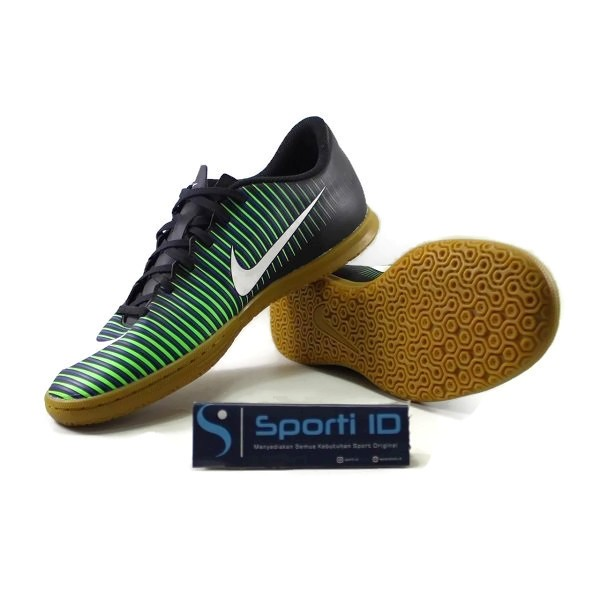 Sepatu Futsal Nike MercurialX Vortex III IC Black Green (831970 014)
